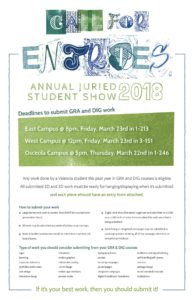 Call for Entries Student Juried Art Show
